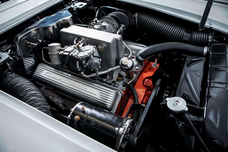 Wandbild 283cui v8 smallblock fuel injection wandbild displaystars - Wandbild petrol ...