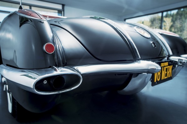 Wandbild 1958 Corvette C1 Heck