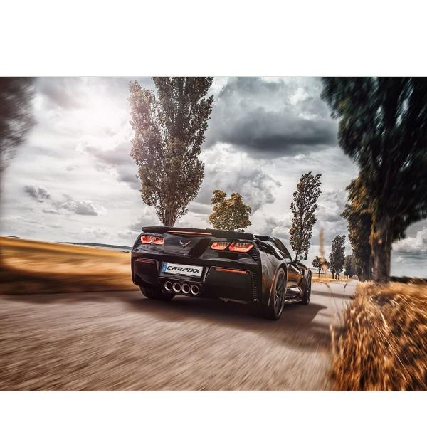 Corvette Gradn Sport Landschaft von hinten