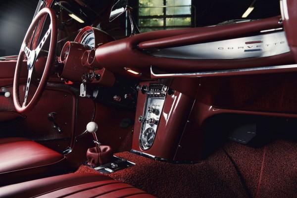 Wandbild 1960 Corvette C1 Interieur