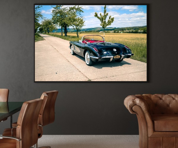 Wandbild Corvette C1 Cabrio