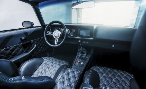 Wandbild 1973 Camaro Z28 RestoMod Interieur