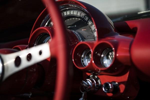 Wandbild 1960 Corvette C1 Tacho