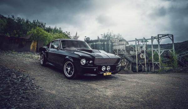 Wandbild 1967 Ford Mustang Eleanor schwarz