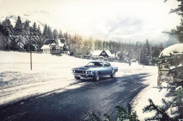 Wandbild 1969 Ford Mustang CobraJet