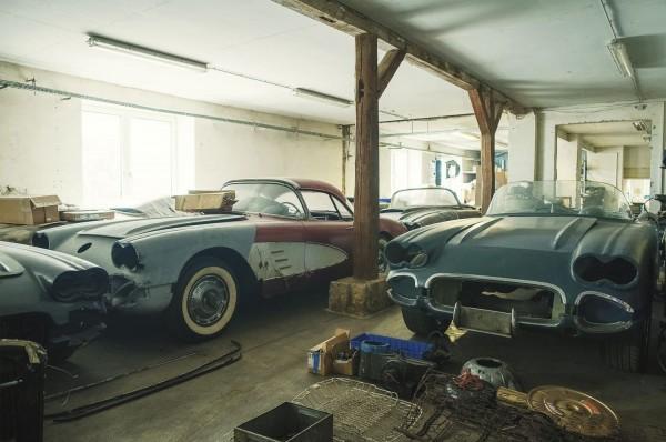 Wandbild 1960 Corvette Scheunenfunde