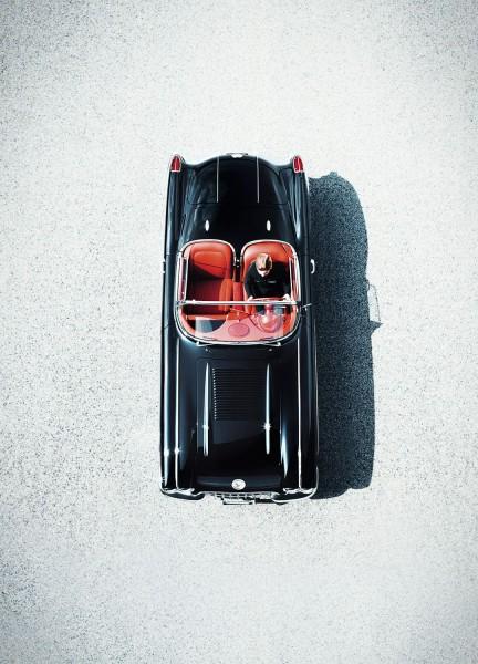 Wandbild 1958 Corvette C1 von oben