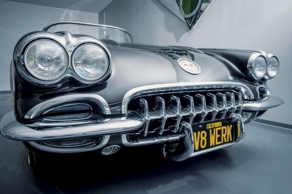Wandbild 1958 Corvette C1 Front