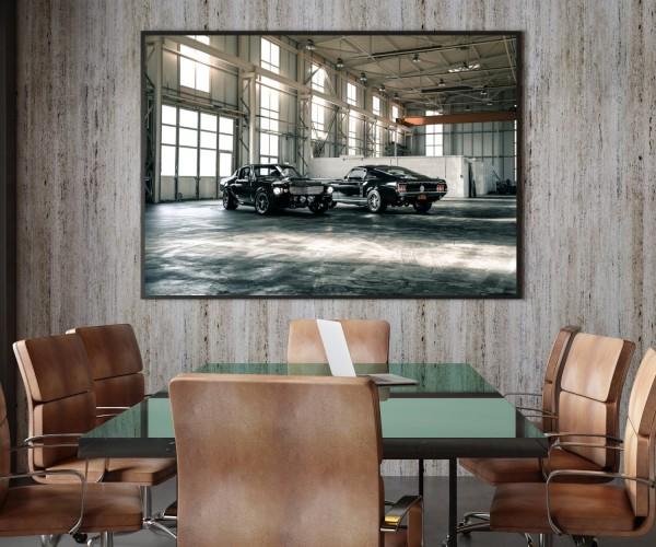 Wandbild Ford Mustang Eli V und Fastback GT