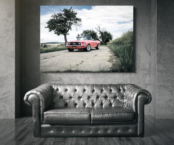 Wandbild 1967 Mustang Cabrio in 'Playmate Pink'