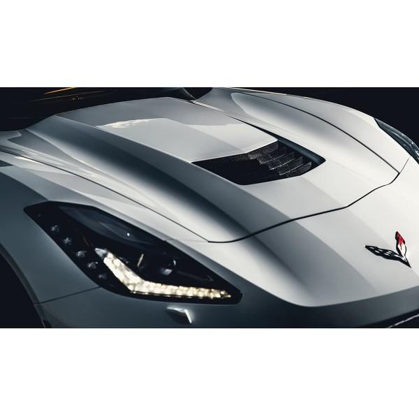 Weiße Corvette C7 Detail
