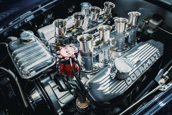 Wandbild 427cui V8 BigBlock Weber 4x2 Setup