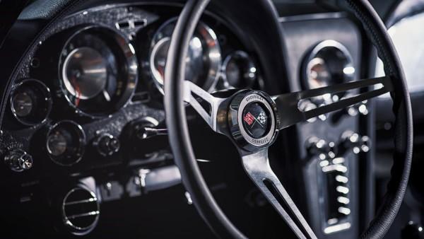 Wandbild Corvette C2 Interieur