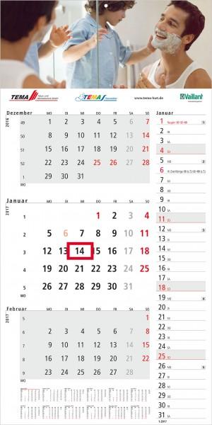 "3 Monatskalender ""Konzept 3 Complete"""